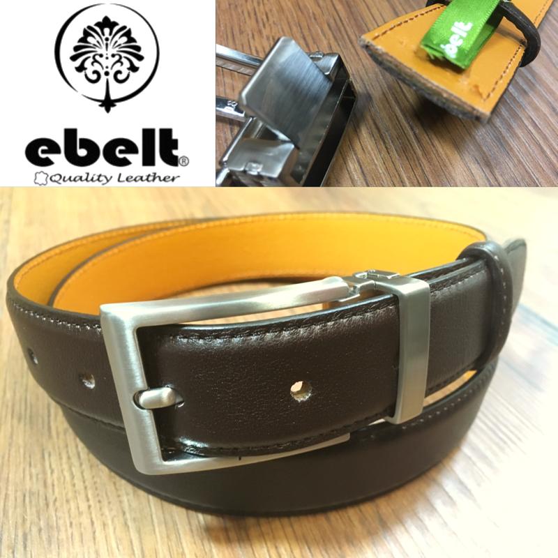 ebelt 男裝皮帶,高級頭層牛皮皮帶 3cm Top Grade Cow Full Grain Leather Belt - ebm0154BRN