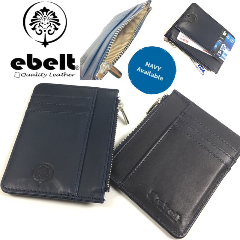 ebelt 頭層植楺皮拉鍊卡片銀包 Full Grain Vegetable Tanned Leather Zipper Card Holder Wallet - WM0126