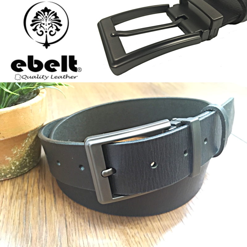 ebelt 印度製 頭層水牛皮皮帶 BUFFALO FULL GRAIN LEATHER BELT 3.4cm- ebc0321