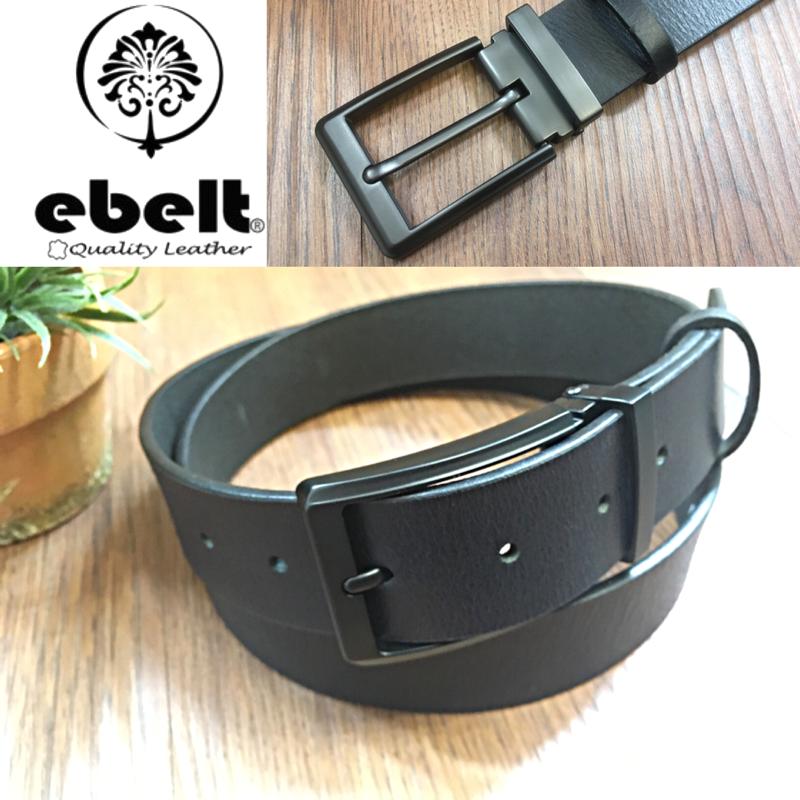 ebelt 男裝皮帶 -頭層水牛皮皮帶 BUFFALO LEATHER BELT 3.4cm- ebc0322