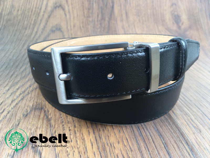 ebelt 男裝皮帶,高級頭層牛皮皮帶 3cm Top Grade Cow Full Grain Leather Belt - ebm0154BLK