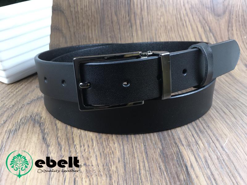 ebelt 男裝皮帶 -不夾層光面牛皮皮帶 PATENT SPLIT LEATHER BELT 2.9cm- ebc0316B