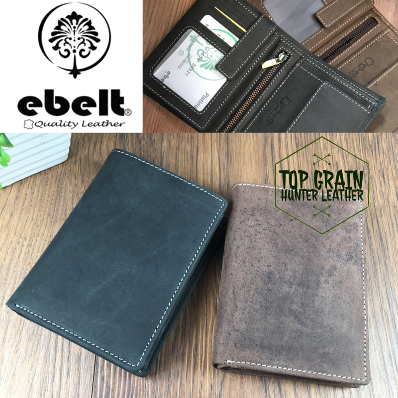 ebelt 頭層水牛獵人皮銀包 Full Grain Buffalo Hunter Series Leather Wallet - WM0117