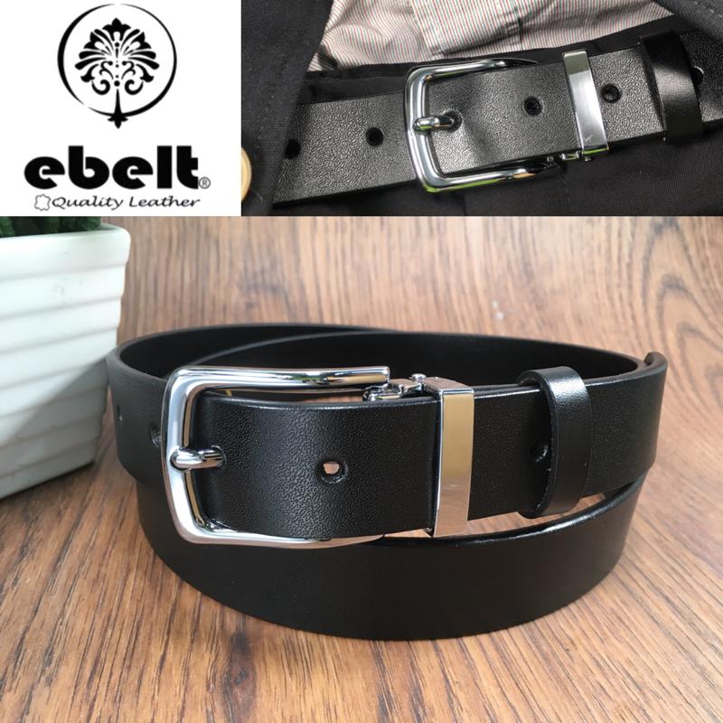 ebelt 男裝皮帶 -不夾層光面牛皮皮帶 PATENT SPLIT LEATHER BELT 2.9cm- ebc0316G