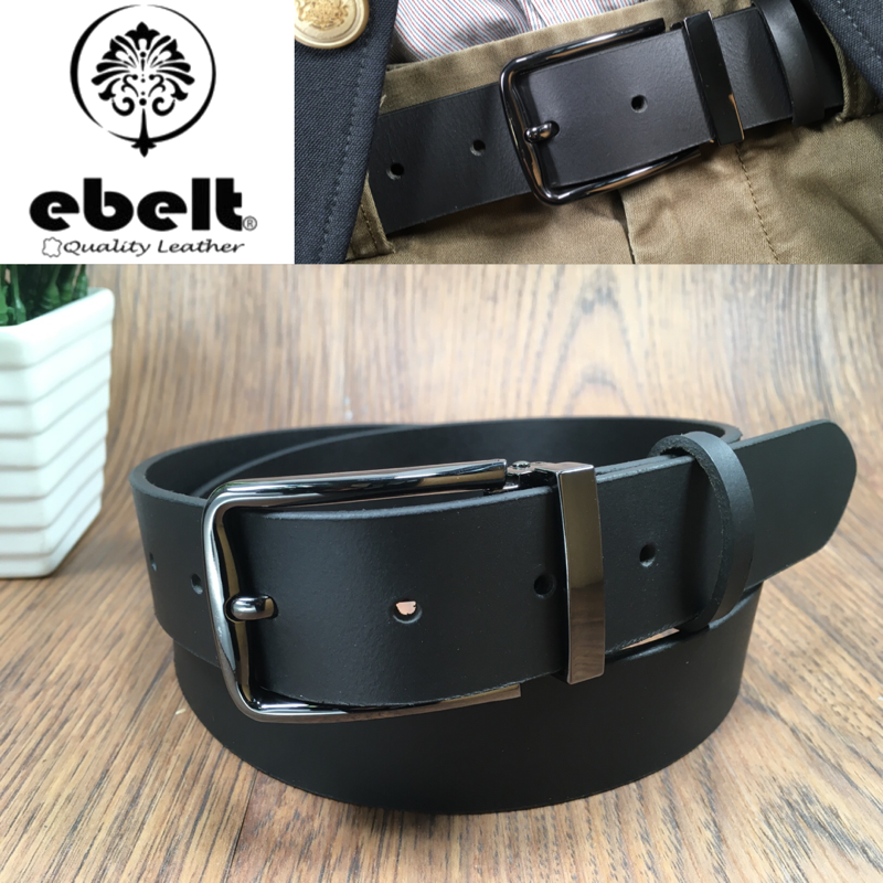 ebelt 男裝皮帶 -頭層水牛皮皮帶 BUFFALO LEATHER BELT 3.4cm- ebc0323A