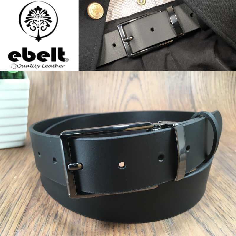 ebelt 男裝皮帶 -頭層水牛皮皮帶 BUFFALO LEATHER BELT 3.4cm- ebc0323B