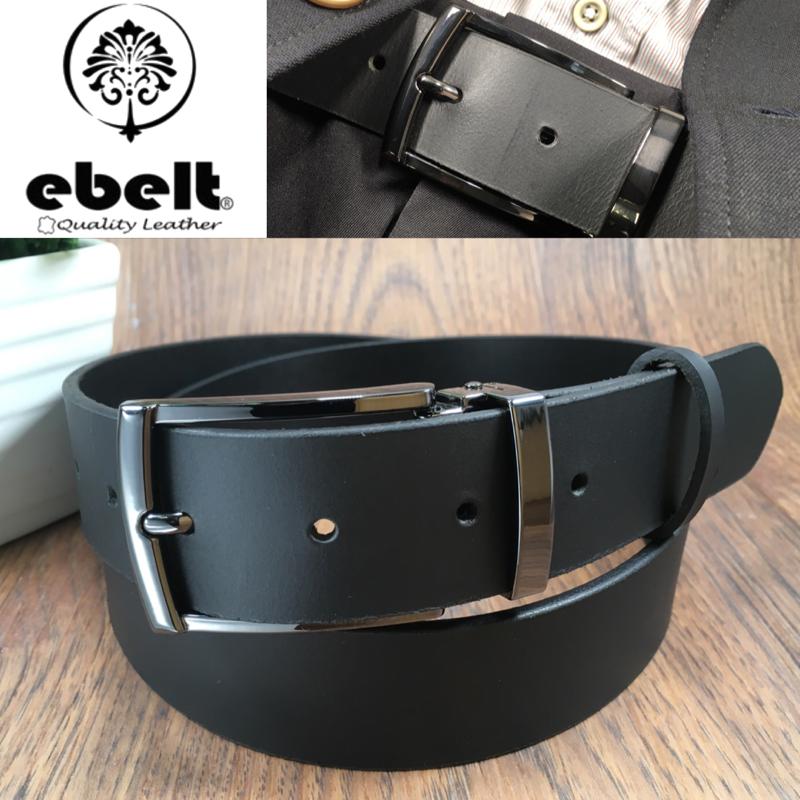 ebelt 男裝皮帶 -頭層水牛皮皮帶 BUFFALO LEATHER BELT 3.4cm- ebc0323E