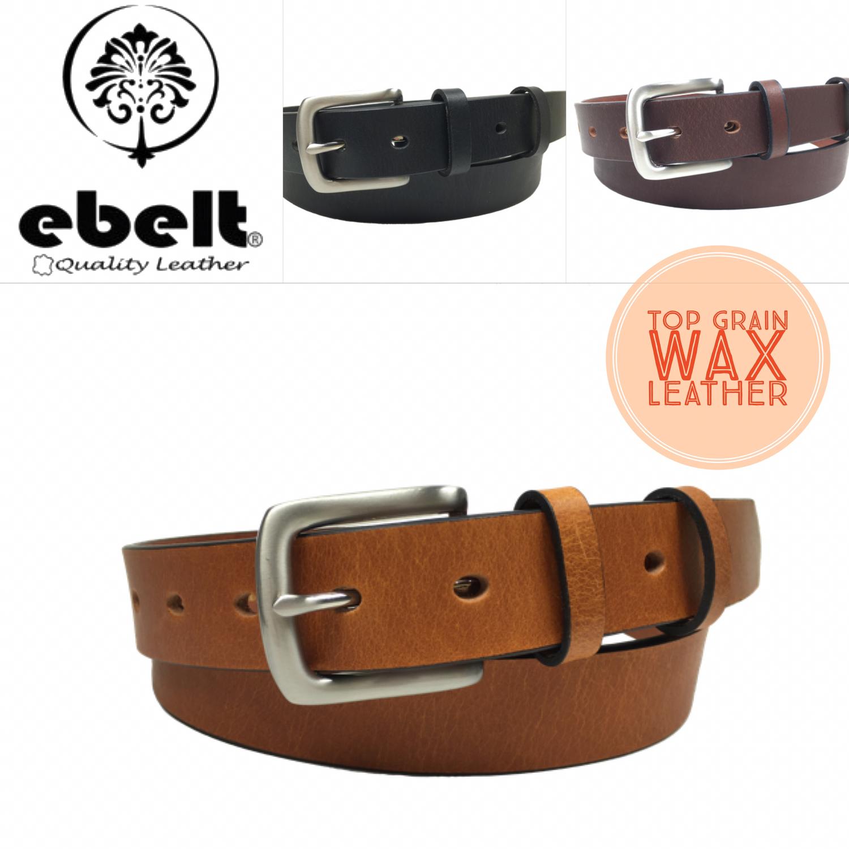 ebelt 頭層牛皮皮帶銅扣 Full Grain Cow Leather Belt 3.0cm Solid Brass Buckle - ebc0301