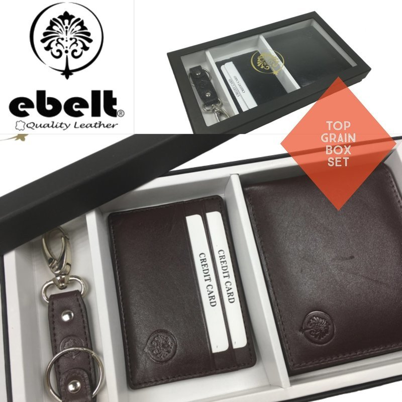 ebelt 頭層牛皮銀包禮盒 Full Grain Cow Leather Wallet Box Set - BX005
