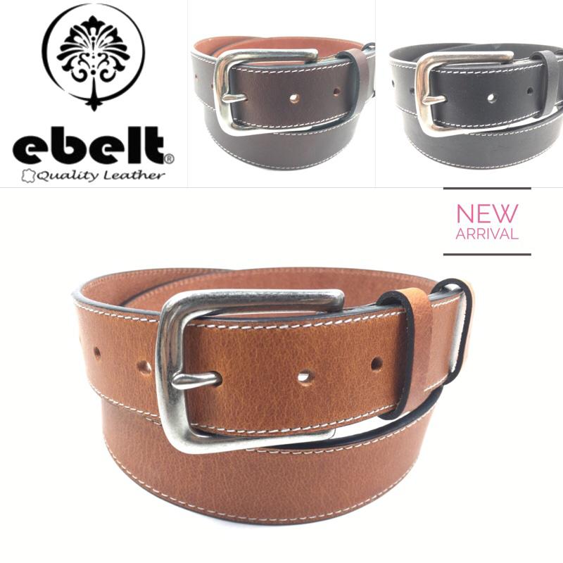 ebelt 頭層牛皮皮帶銅扣 Full Grain Cow Leather Belt 3.4cm Solid Brass Buckle  - ebc0306