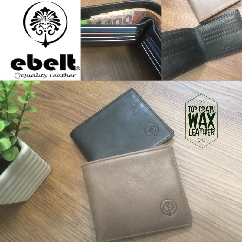 ebelt 頭層油蠟牛皮銀包 Full Grain Wax Leather Wallet - WM0119