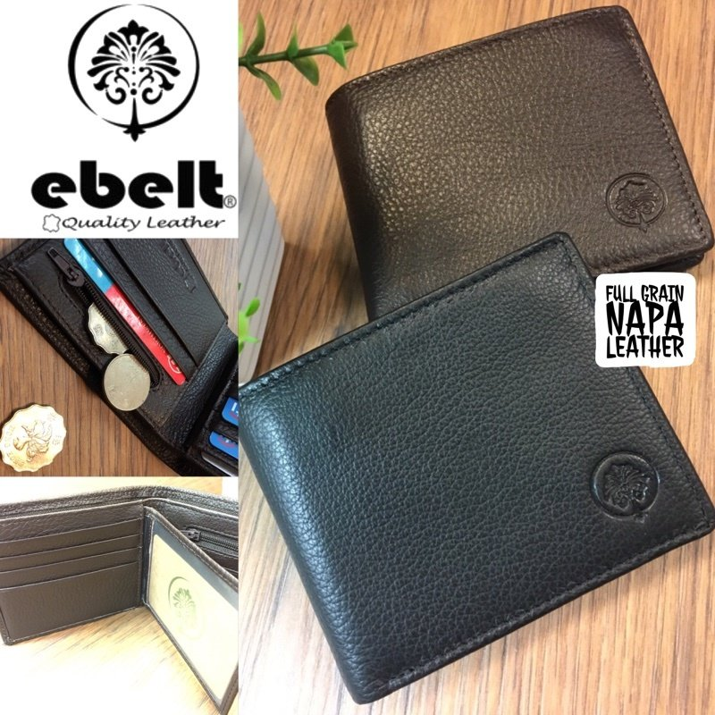 ebelt 頭層軟牛皮銀包(有内頁)Full Grain Napa Cow Leather Wallet - WM0078
