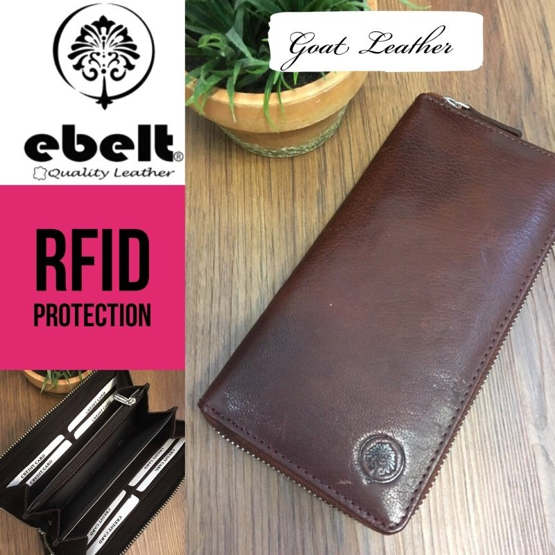ebelt RFID 頭層山羊皮長銀包 Full Grain Goat Leather Long Wallet - WM0115