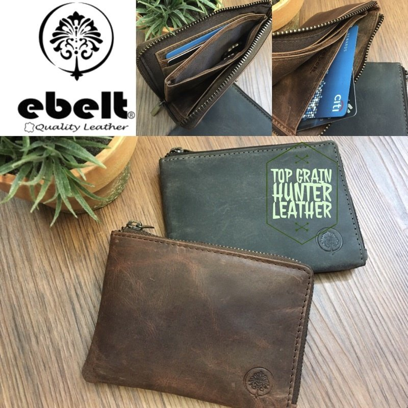 ebelt 頭層水牛獵人皮卡片套銀包 Full Grain Buffalo Hunter Series Leather Card Wallet - WM0111