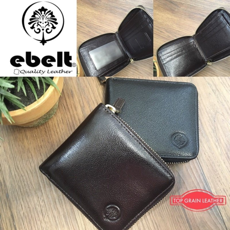 ebelt 頭層水牛皮拉鍊銀包 (有内頁)Full Grain Buffalo Leather Wallet Zipper Style - WM0124