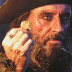 Blackbeards ring from POTC Skull scoop with Garnets