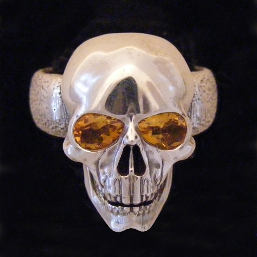 Skull w eyes Citrine