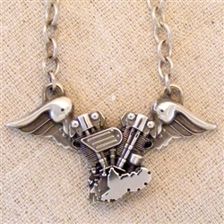 KNUCKLEHEAD WITH WINGS PENDANT