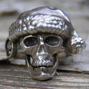 Santa Skull ring