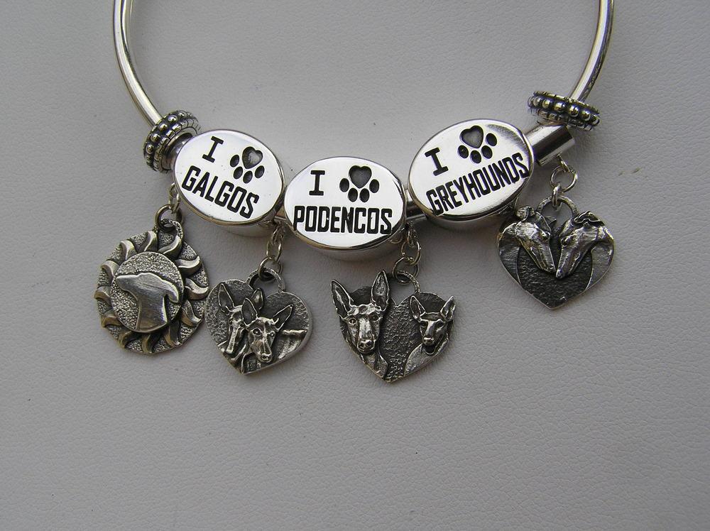 Accent bead I heart Greyhounds