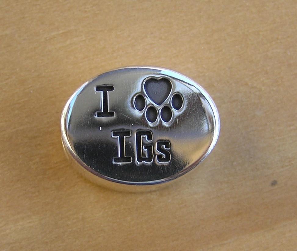 Accent bead I heart IG's ( Italian Greyhounds )