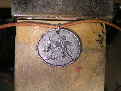 Birmingham Greyhound Protection UK sterling silver pendant