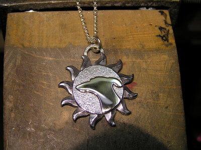 Galgos Del Sol Spain sterling silver pendant