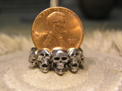 Small Multi Skull ring