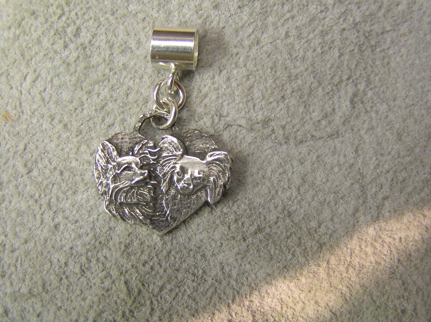 Papillon Sterling silver Charm