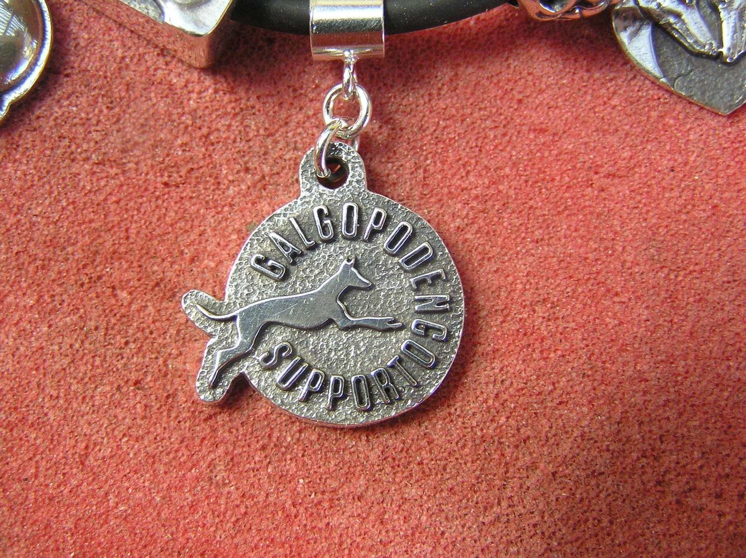 Galgo Podenco Support Spain sterling silver charm