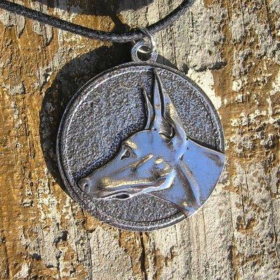 Podenco Sterling silver pendant