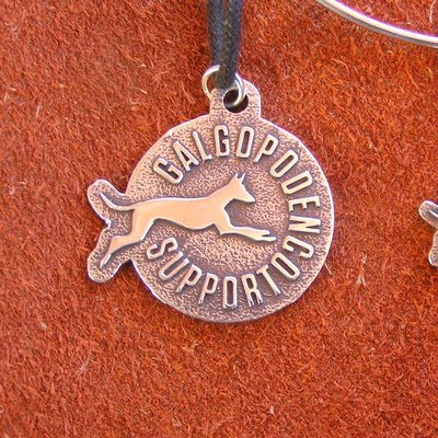 Galgo Podenco Support Spain sterling silver pendant
