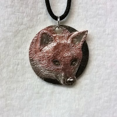A Fox pendant for Save Me Trust Copper Plated