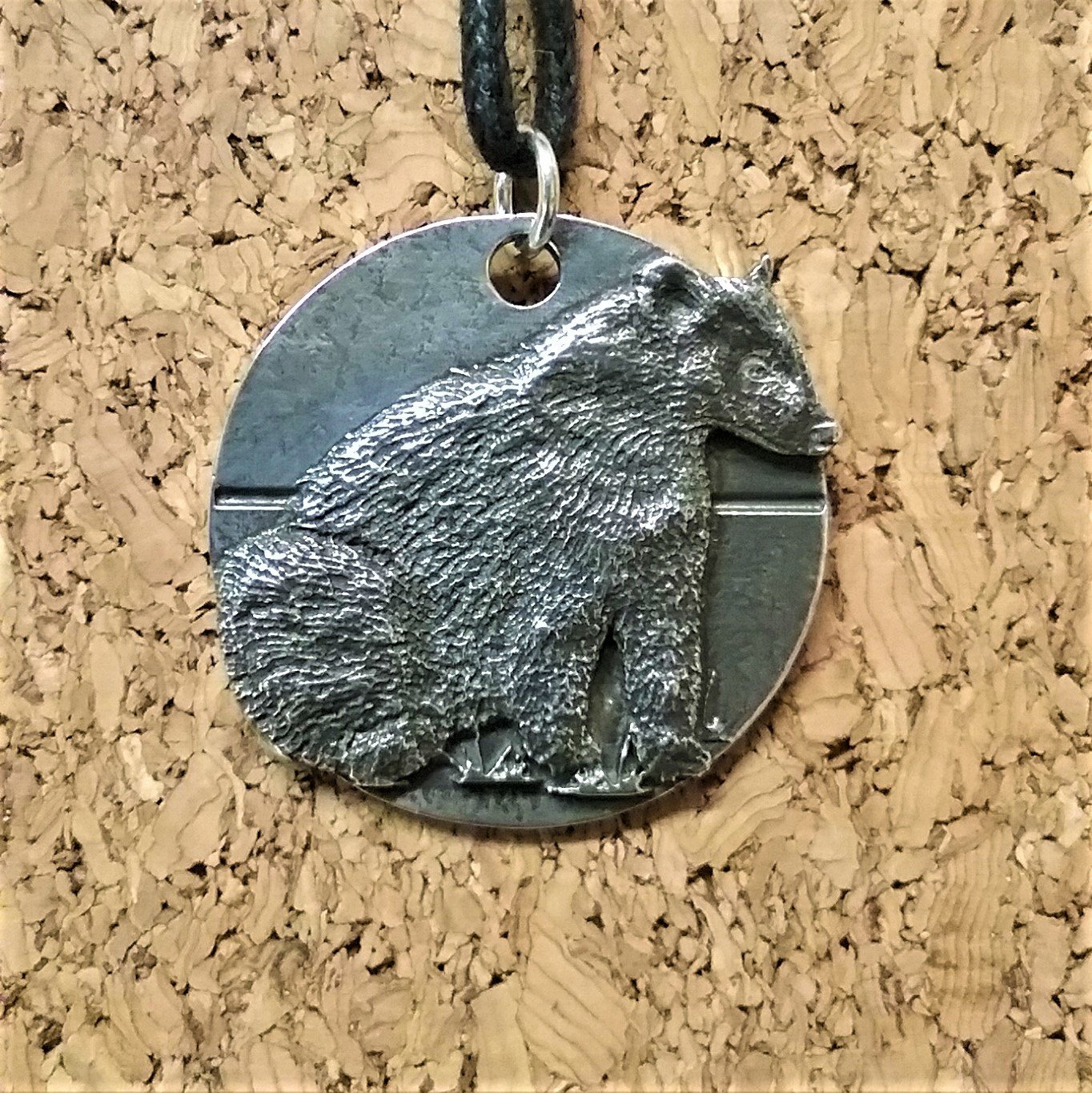 Harper Asprey Wildlife Rescue Badger pendant
