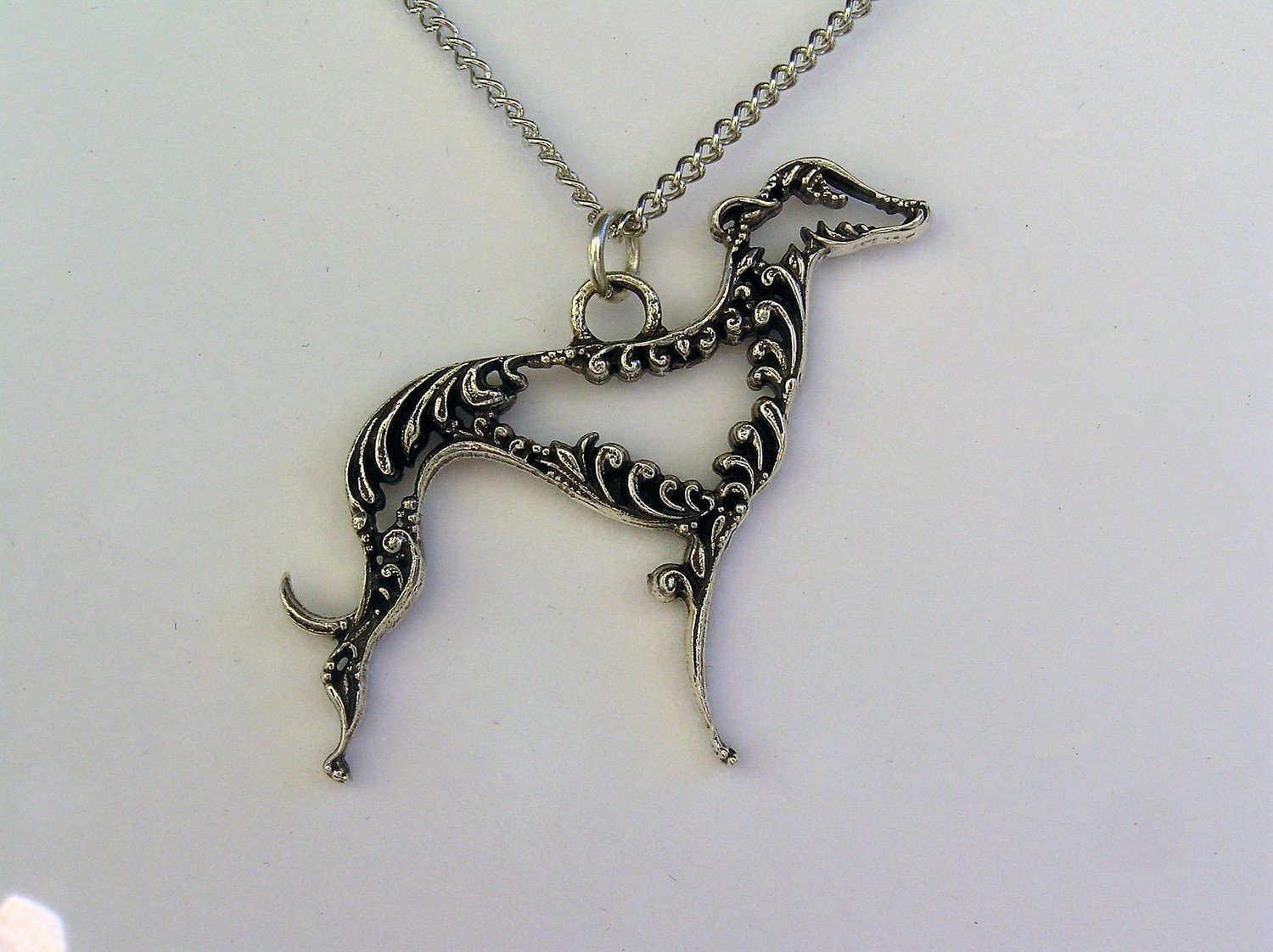 Greyhound Adoption Center USA sterling silver pendant