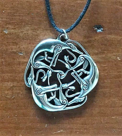 Celtic three hound pendant