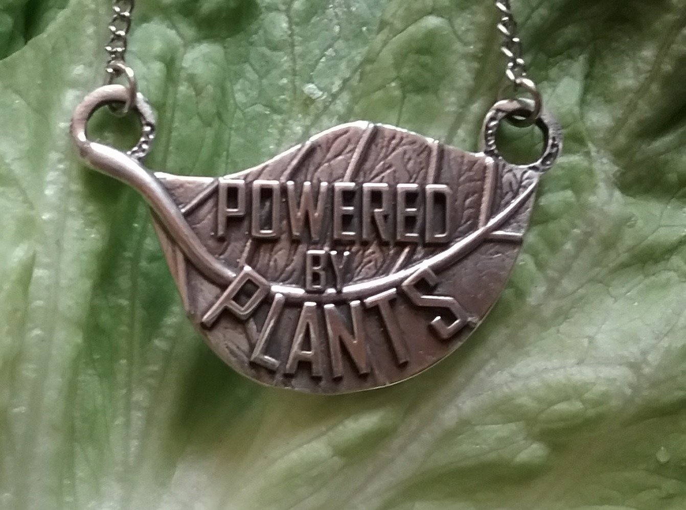 _ POWERED BY PLANTS. silver PENDANT