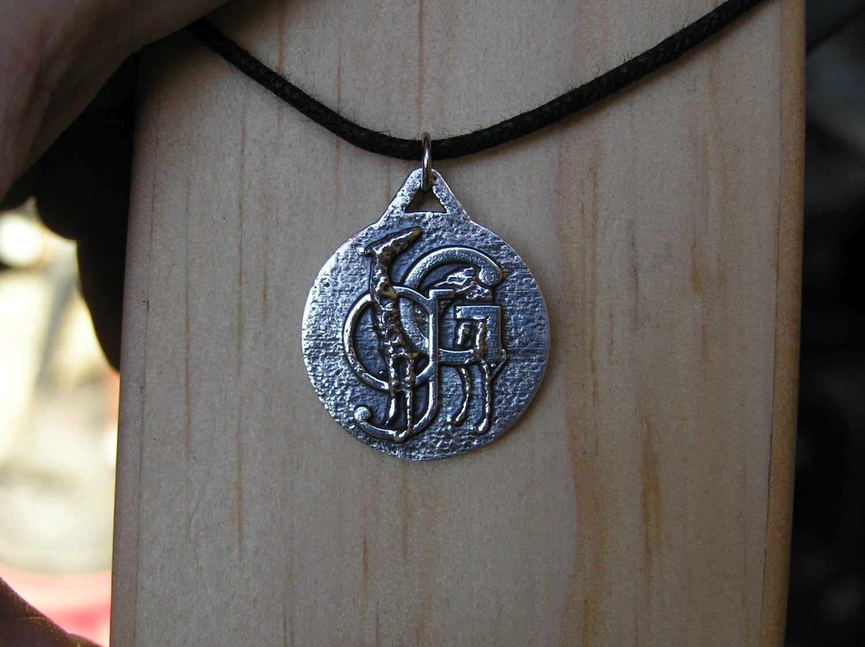 Grateful Greyhounds sterling silver pendant