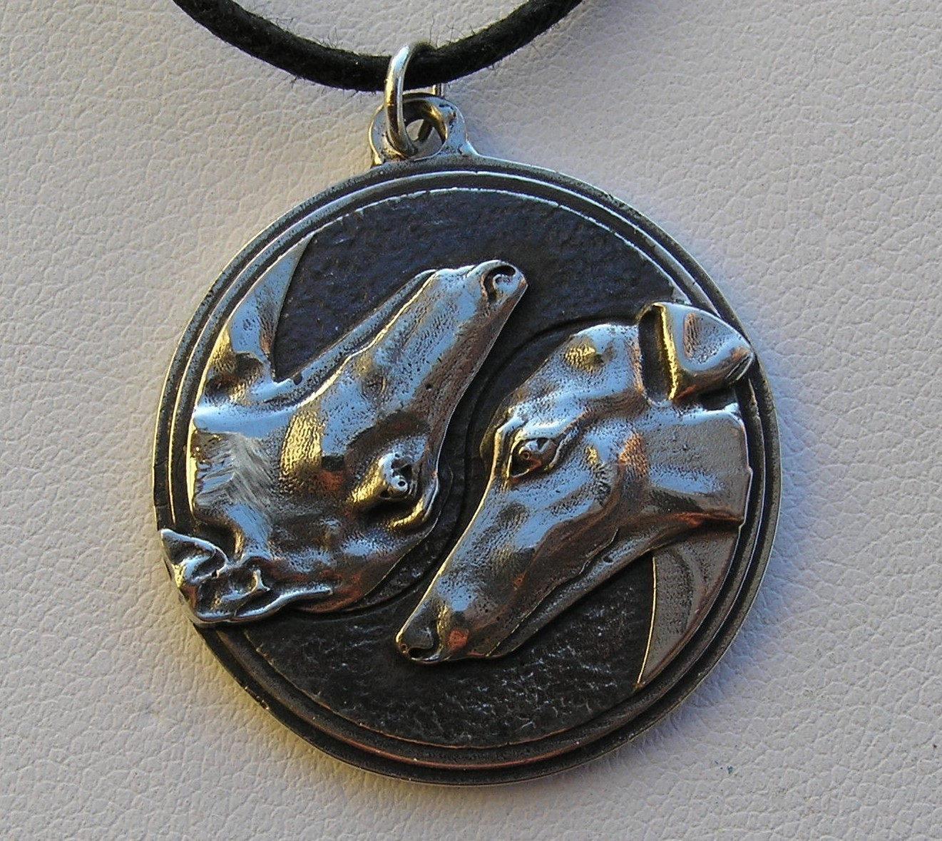 Hounds Y & Y sterling silver pendant