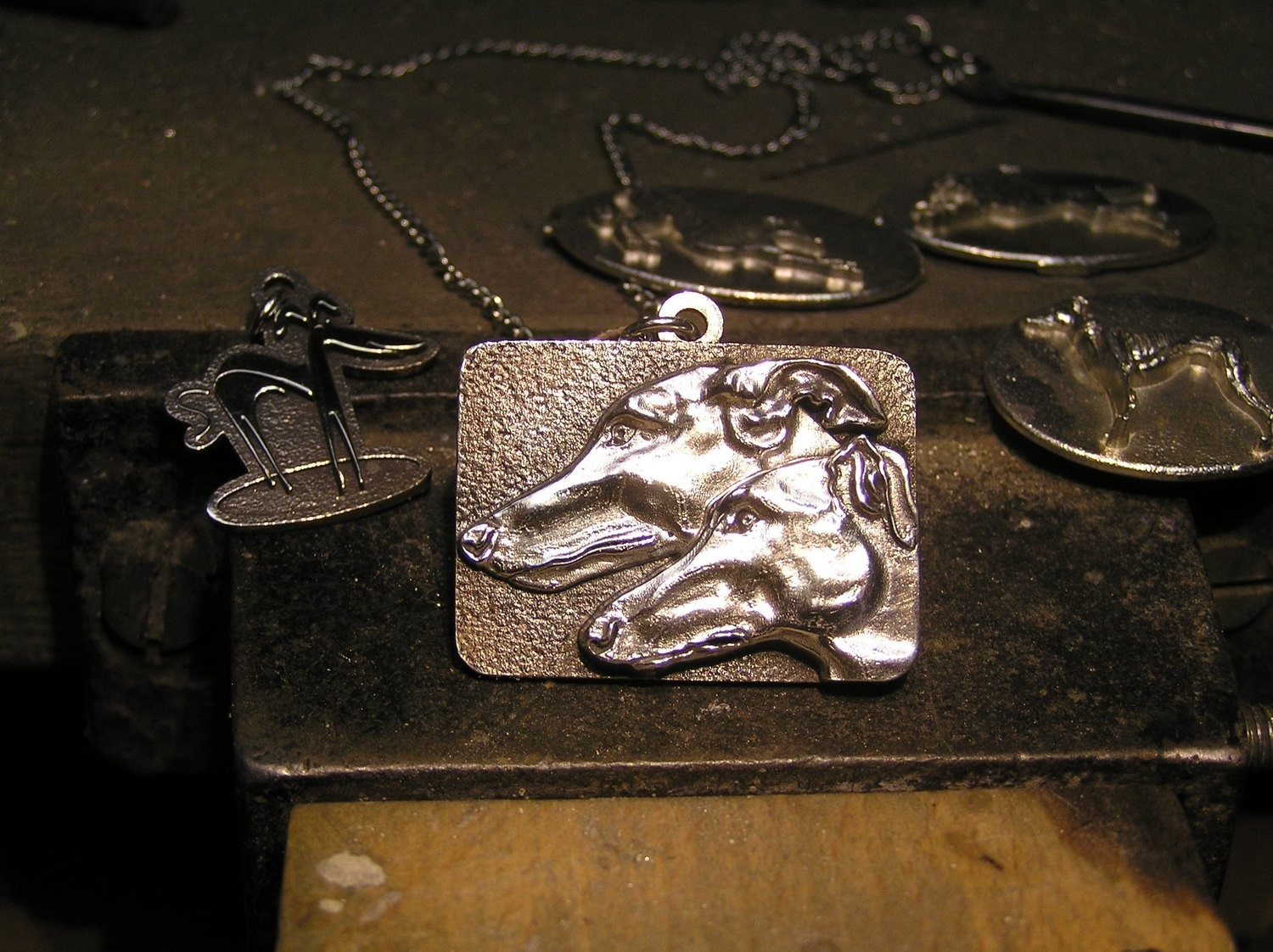 Greyhound, Galgo Sterling Silver Pendant