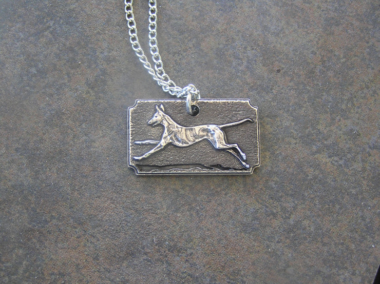 Podenco Friends Spain sterling silver pendant