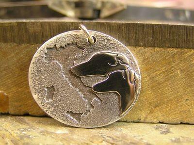 Pet Levrieri Italy Sterling silver pendant