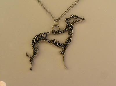 Sight hound  sterling silver pendant