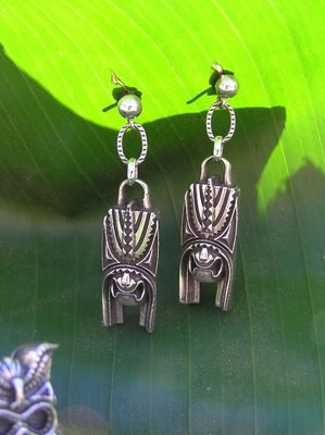Puea, the Hawaiian God of Darkness  Earrings