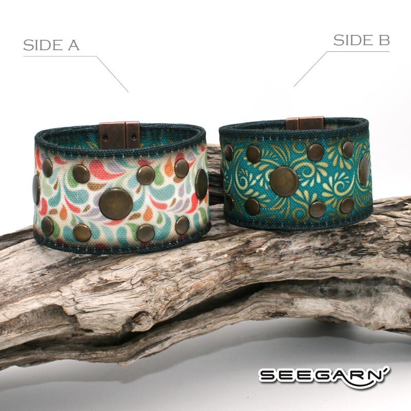Seegarn Wende-Armband (Design M19 & M07)