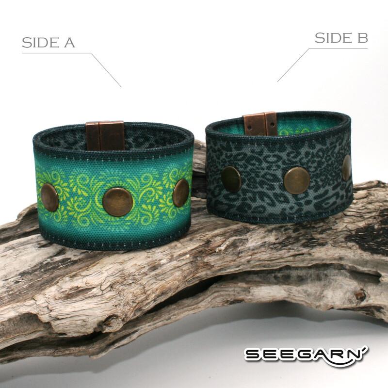 Seegarn Wende-Armband (Design M08 & M37)