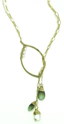 Leaf Lariat Small - 14k YGF