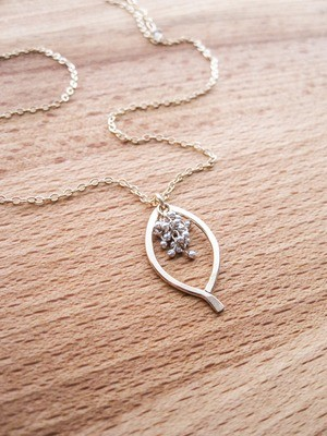 Mini Leaf Caviar Necklace