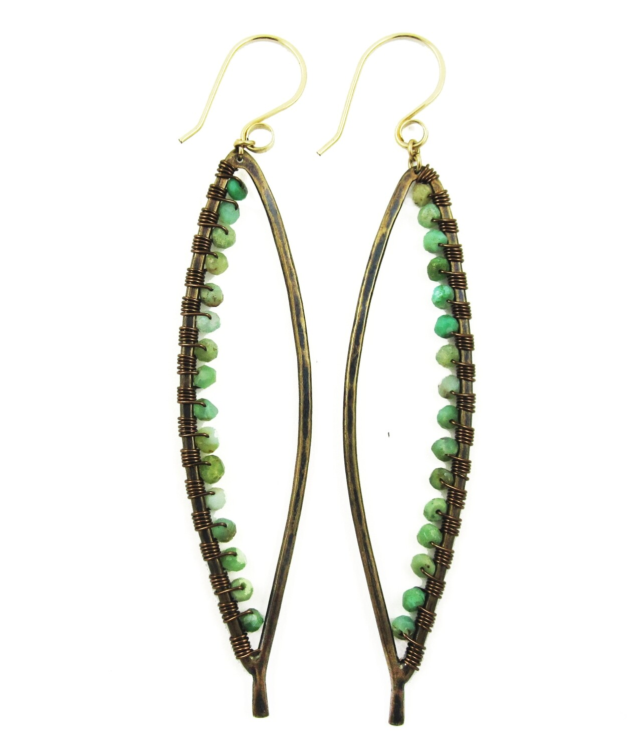 Bay Leaf Earring LG Wrapped