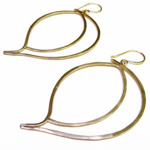 Leaf Earrings - 14K Gold Fill